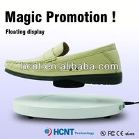 new invention ! magnetic levitating led display stand for shoe woman,kolapuri shoes