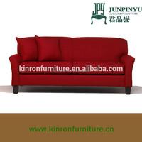 2015 elegant modern design high quality fabric red sectional sofa