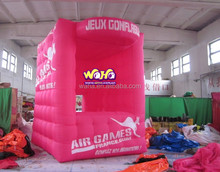 2015 new design pink color advertising giant inflatable tent kiosk booth with logo printing