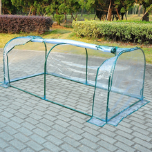 Transparent PVC Tunnel Greenhouse Green Grow House Cold Frame