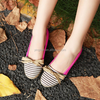 2015 New Korean Women Breathable Lazy Flats Casual Single Goose Bottom Shoes Canvas Shoes