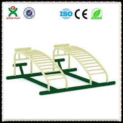 Superb quality double ab workout machines/fitness bench/Outdoor bodybuilding equipment QX-090B
