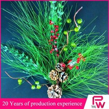 Natural red berry long Pine cone Pine needle mixed artificial christmas tree pine branches