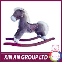 Hot Selling Custom Aminal shaped plush ride on horse toys