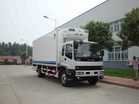 cummins engine Japan refrigerated food transportation trucks/refrigerator freezer truck/refrigerated trucks for sale