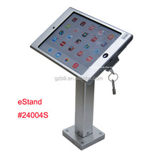 tablet display stand for mini iPad display kiosk brace housing metal case with lock