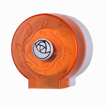 JN8301F Hotel Publicl Toilet Wholesale Orange Translucent Round Plastic Wall Mounted Tissue Paper Towel Roll Dispenser Holder