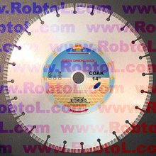 14'' 350mm Laser Welded Segmented Turbo Diamond cutting Blade for Hard Cured Concrete Cutting diamond saw blade--COAK