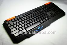 2014 nuevo producto led de luz de fondo láser para juegos baratos imágenes del teclado