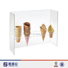 yageli custom logo printed acrylic waffle cone stand cone display