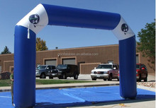 good price inflatable race archway, inflatable green event blue arch