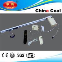 China coal group aluminium electric curtain track, motorized blinds curtain rail