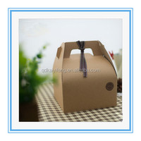 craft paper food grade cake and bread box with carrying handle