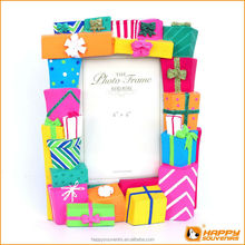 4x6 inch poly resin gift box picture photo frame