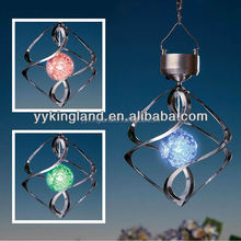 New solar windbell light led ball light led hangging lightshinning decorated light#4051