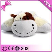 China supplier custom plush animal shaped cushion