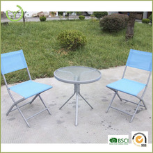 3 Piece Bistro Set for 2 - Folding Garden Patio Set For 2 with 1 table and 2 chairs