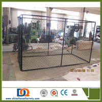 7.5x13x6ft outdoor PVC coated chain link large Dog Kennel Runs