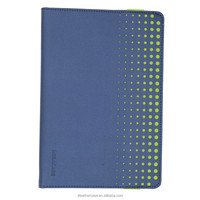 New arrival more stoma Bright Green Elastic band with Blue background Canvas case for iPad mini cover