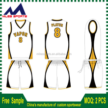 Custom Made Digital Print Latest Basketball Jersey Design/Basketball Uniform