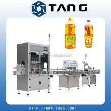 automatic filling labeling printing machine production line for cooking oil