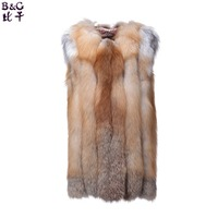 BGD0002 Fashion Women Winter Real Red Fox Fur Vest 2015 fashion