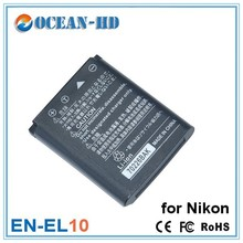 Nimh 3.7v extended flat battery EN-EL10 for Nikon Coolplix S60 S200 S210 S220 S230 S500 S600 S700