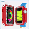 Wholesale Eco-friendly colorful Diamond Embedded Solid Color Soft TPU Case for Apple iWatch Case 38mm