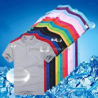 Custom logo 180 gsm 60 cotton 40 polyester color plain polo t shirt