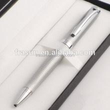 Expensive silver metal ball pen, metal engraving pen