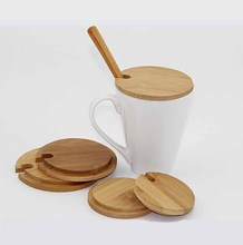 Various Size Round Bamboo Coffee Cup Lids Home Decoration,bamboo cover for Ceramic Condiment Spice Jars