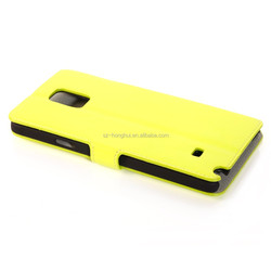 All kinds of color Flip PU Leather Cell Phone Case for Samsung Galaxy Note 4 HH-CPSN416(26)