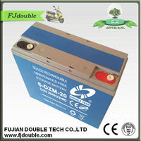 Electric Bike rechargeable Battery 6-DZM-20 12V 20AH
