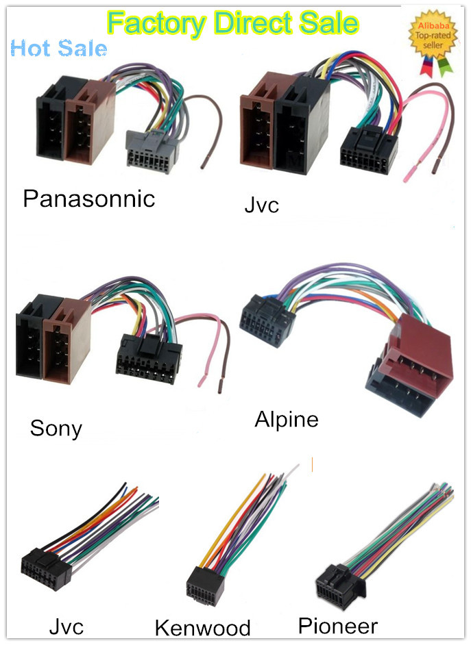 Automotive Wiring Harness Cables : Iso harness car gps dvd player video wiring