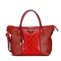 2015 China Supplier New Lattice Mixed Red Fashion Handbag