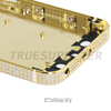 24k gold diamond for iphone 5s replacement back,for iphone 5s gold plated