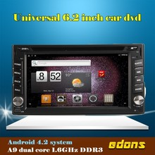 CAR GPS NAVIGATION for Universal car with android4.2 System 6.2inch 2 din car dvd player