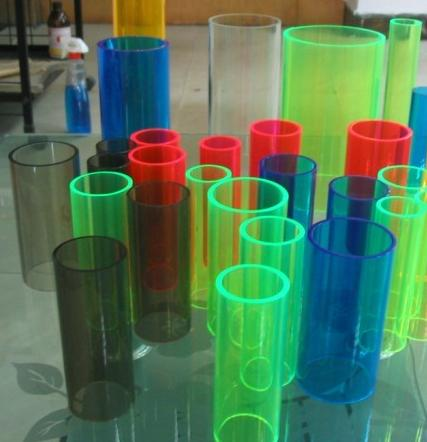High quality color solid acrylic tube / opaque acrylic tube