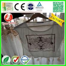 Popular Wholesale 100% cotton lady's t-shirt factory