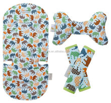 Stroller Set Seat Liner, Support Pillow & Strap Covers