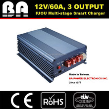 Multi-stage Battery Charger 12V/60A 3output