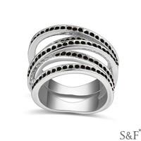 Latest design black stone gay men ring / ring for men 2015