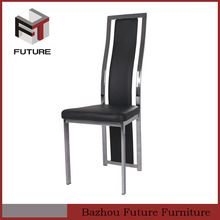 black leather modern chairs dining high back