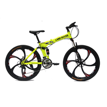 26 inch Foldable 6 spokes integrated Wheels 24 speed Mountain bike/bicycle in guangzhou