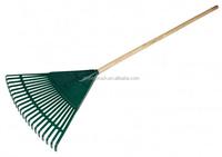 #8 factory wholesale 20 tooth dark green color plastic yard rake leaf collector