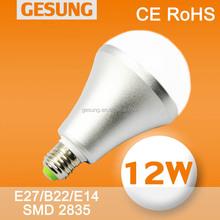 High Lumen E27 12w (CE ROHS) SMD2835 Led Light Bulb