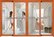 De alumínio e portas de vidro deslizantes