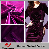 Chinese Manufacturer Offered Mordern Polyester Fashion Fabric Velvet Fabric