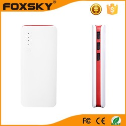 High quality 3 usb output portable power bank charger mobile power bank 10000mah China factory