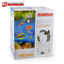 SUNSUN aquarium filter with UV lamp for fish bowl HW-304B